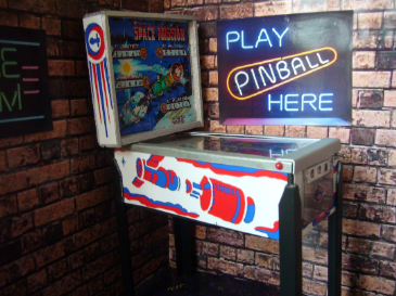 Space Mission 1/12th Scale Miniature Pinball Table Model